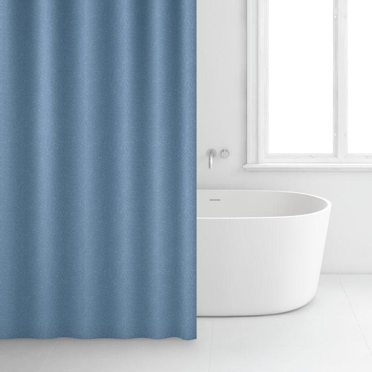 Rideau de salle de bain – 180 x 200 cm – 2308 – Bleu
