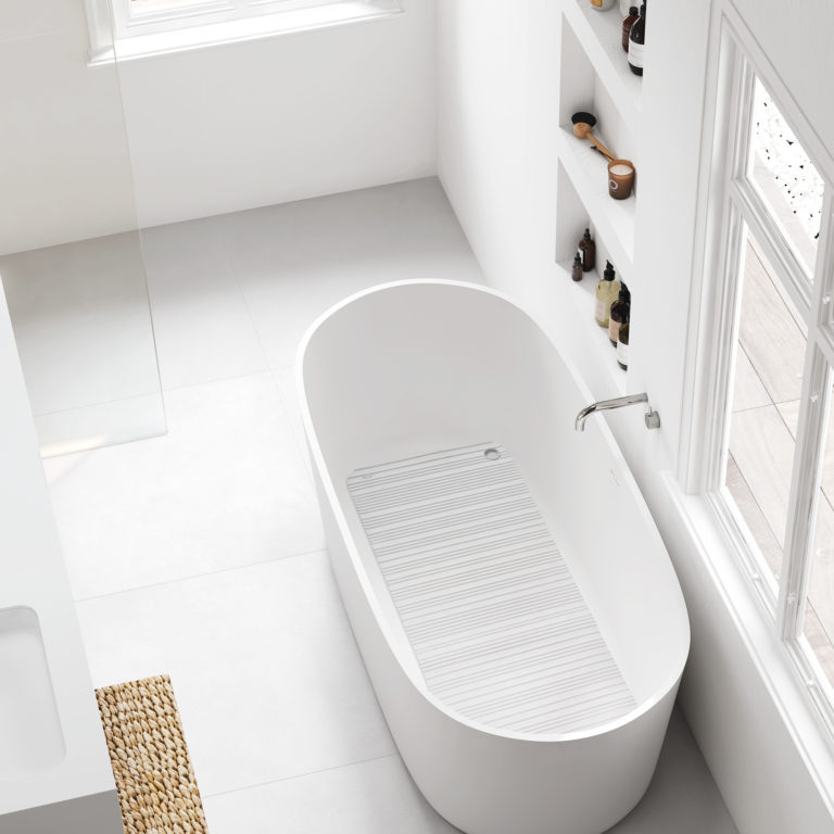 Tapis de bain – 86×33 cm – 2340.01 – Blanc