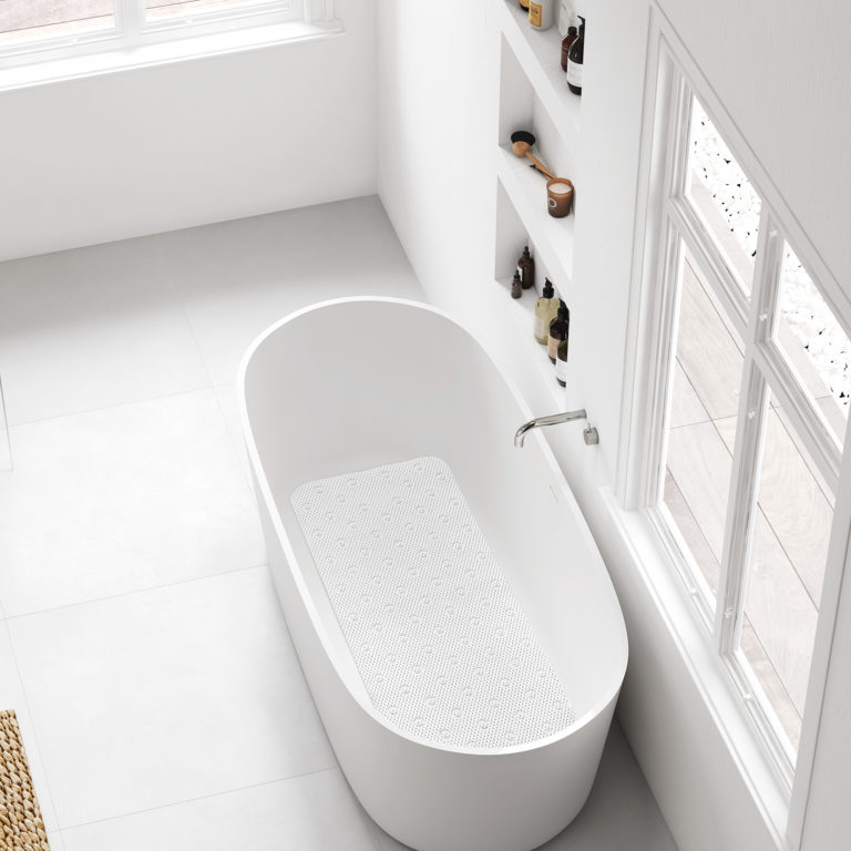 Tapis de bain – 45×91 cm – 2343.01 – Blanc