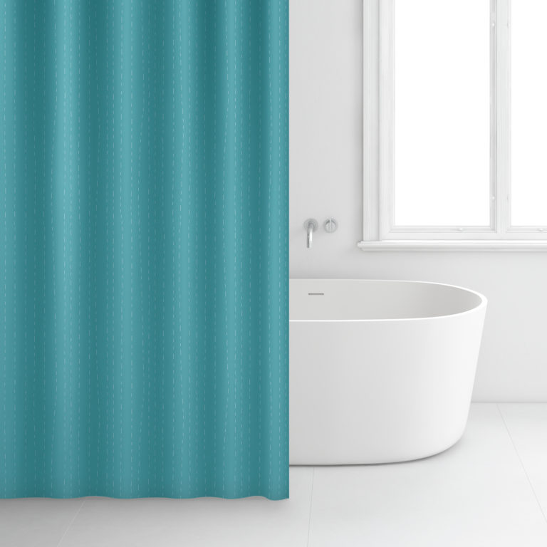 Rideau de salle de bain – 180 x 200 cm – 2349 – Turquoise