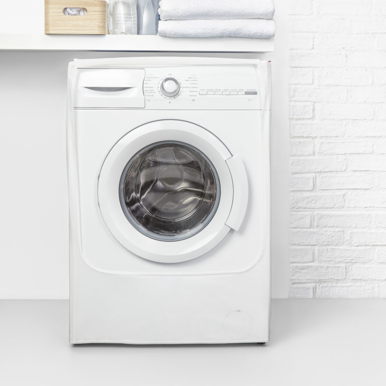 Housse pour machine à laver – 84 x 60 x 60 cm – 2398.11- Blanc opaque